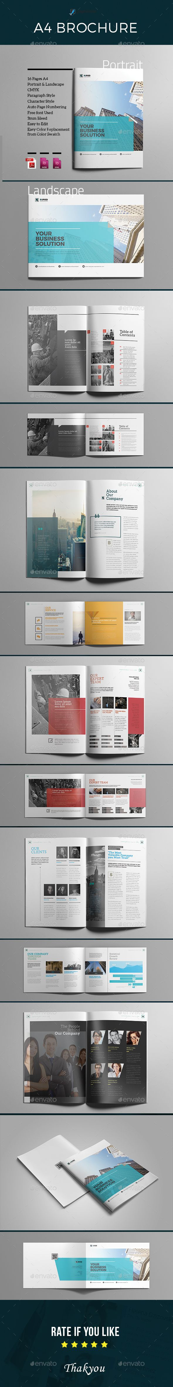 A4 Indesign Brochure | Editorial, Diseño editorial y Revistas