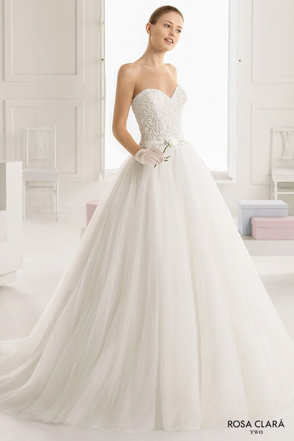 Rosa clar two 2016 wedding dresses rosa clara princess for Strapless princess ball gown wedding dresses