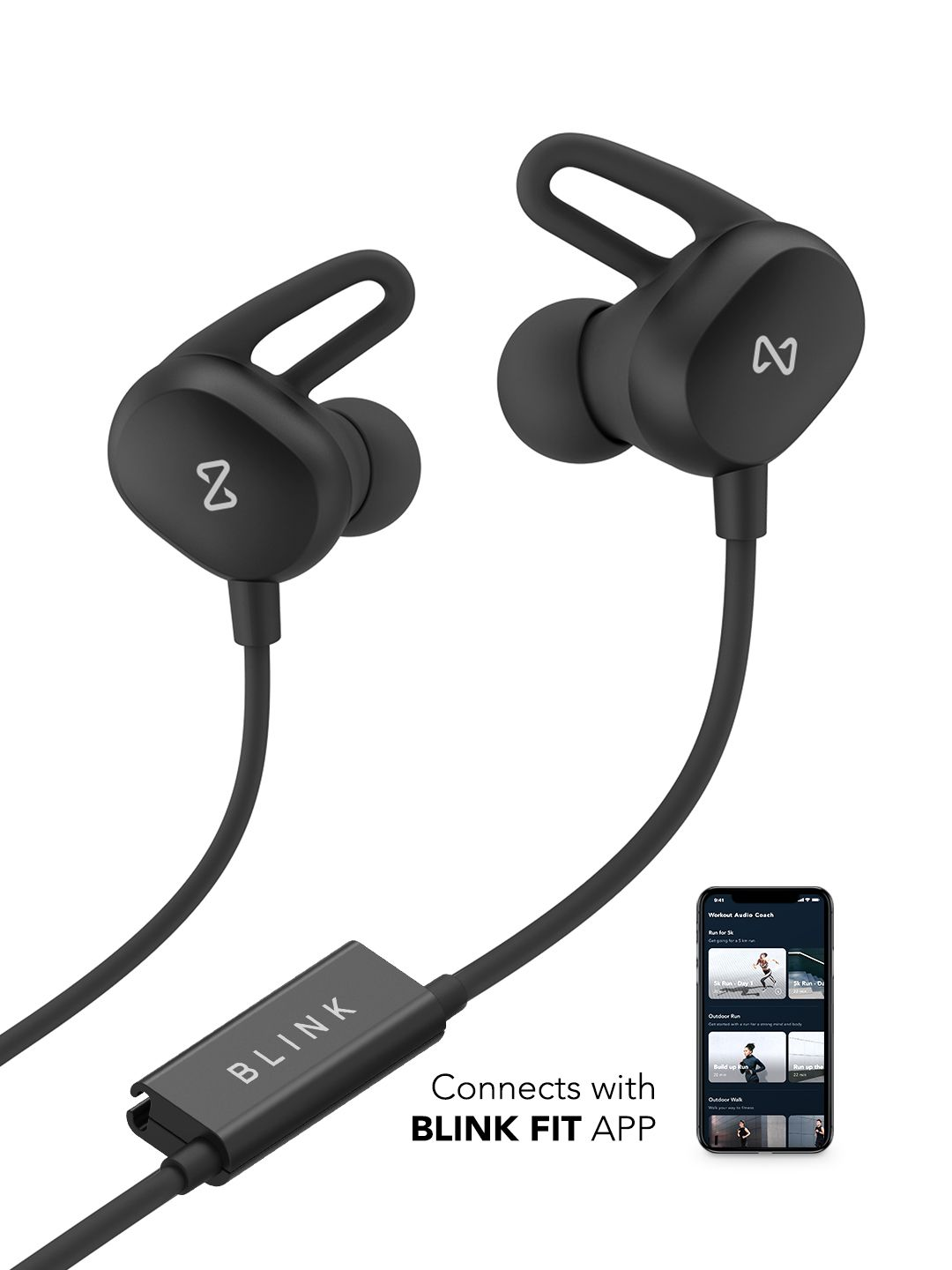 bc1e642b56f Blink Play – Carbon Black Fitness Earphones@1574 | Best Daily offers ...