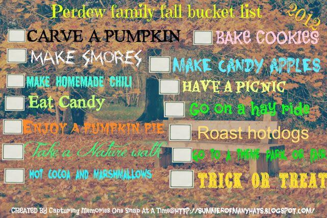 **PAST POST** Our Fall Bucket List   Fall bucket list ...