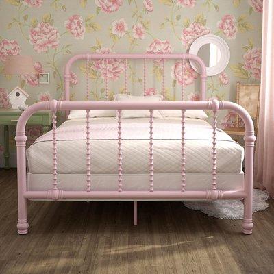 Mack Milo Robyn Slat Bed Size Full Bed Frame Color Pink Bed Slats Toddler Bed Frame Loft Bed Frame