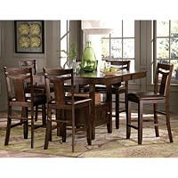 Marcey Counter Height Table Chairs 7 Piece Set Counter Height