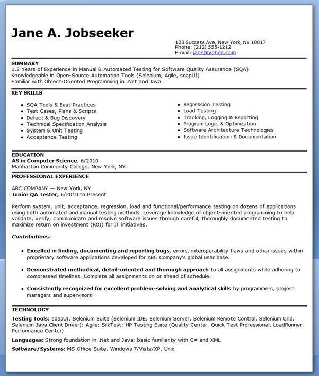 best manual testing resume samples
