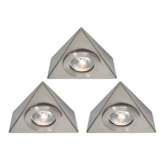 Saxby Nyx LED Triangular Cabinet Downlight Kit Warm White ...