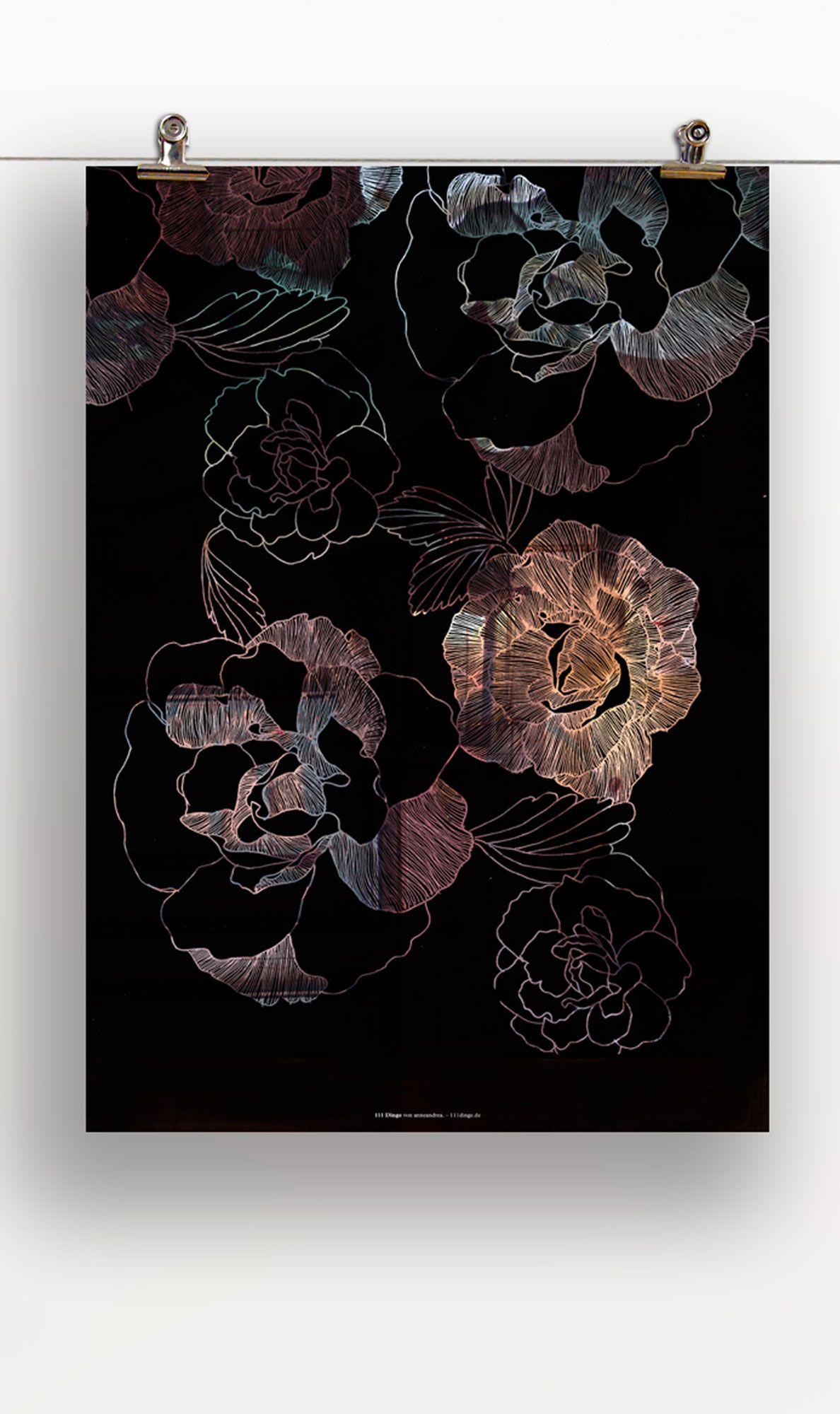 Blumen für eine gute Stimmung im Raum oder zum Verschenken :) http://www.111dinge.de/designposter/wandbild-designposter-blumen/