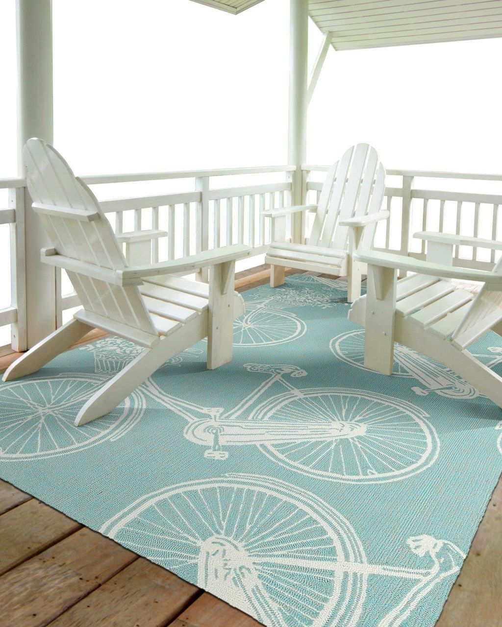 Light Blue Beach Bicycles Rug | Bicycling, Beach and Lights