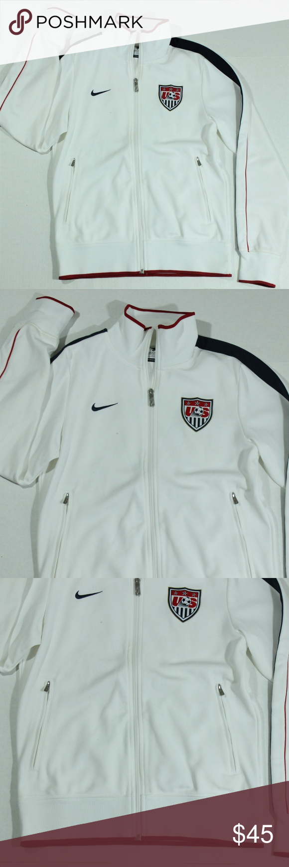 b2c298a3b4 Vintage Nike Soccer Track National Team USA Jacket Vintage Nike Soccer  Track National Team USA Jacket