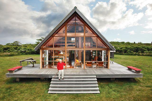 Simple holz architektur f hrt in architekten h nden zum for Einfaches holzhaus bauen