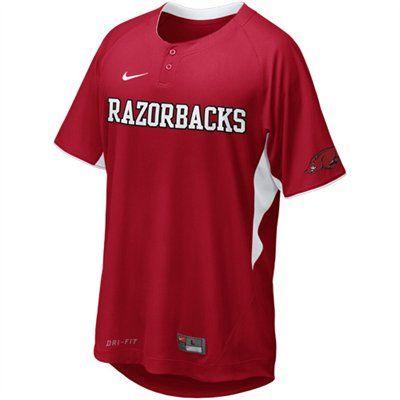huge selection of 03f71 1f3bf Nike Arkansas Razorbacks Batting Practice Performance Jersey ...