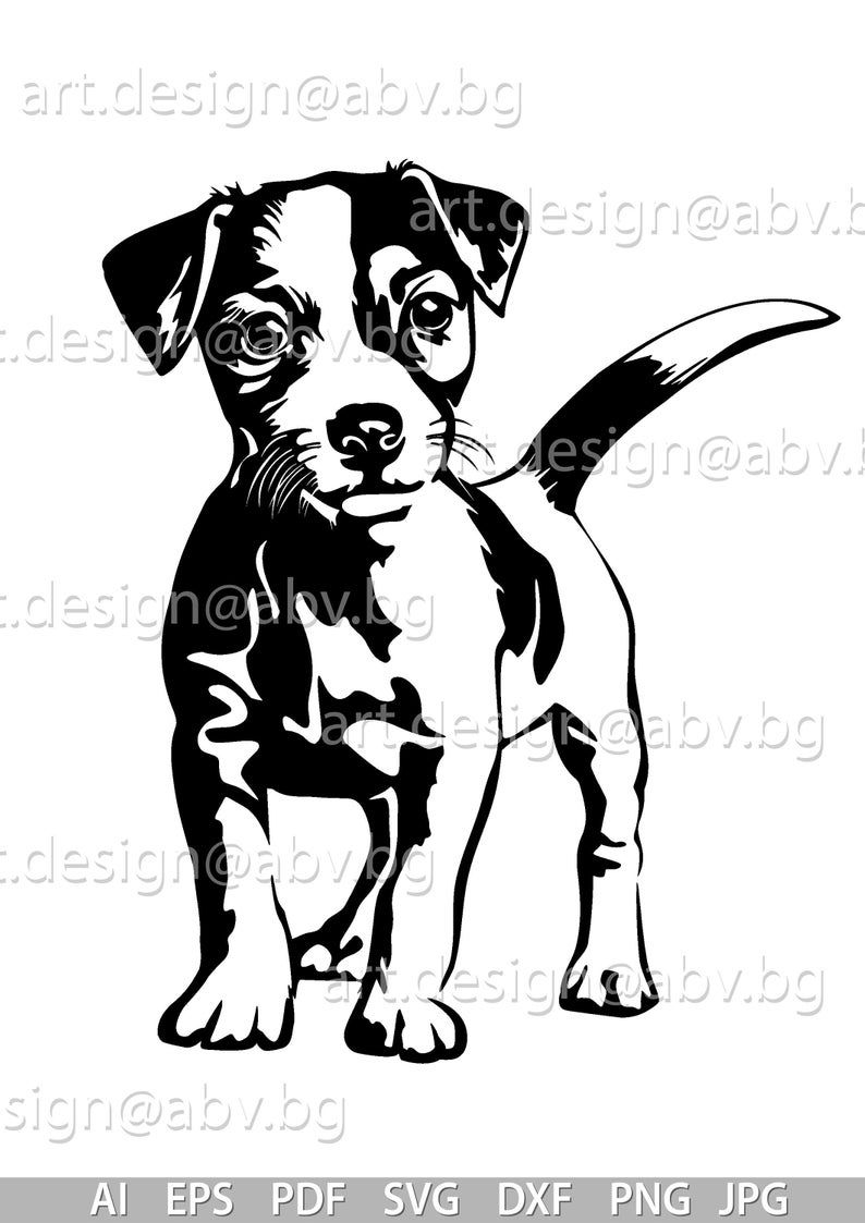 Vector Jack Russell Terrier Dog Svg Ai Png Pdf Eps Dxf Jpg Download Digital Image Graphical Animal Discount Coupons Jack Russell Terriers Honden Silhouet Hond Tekeningen