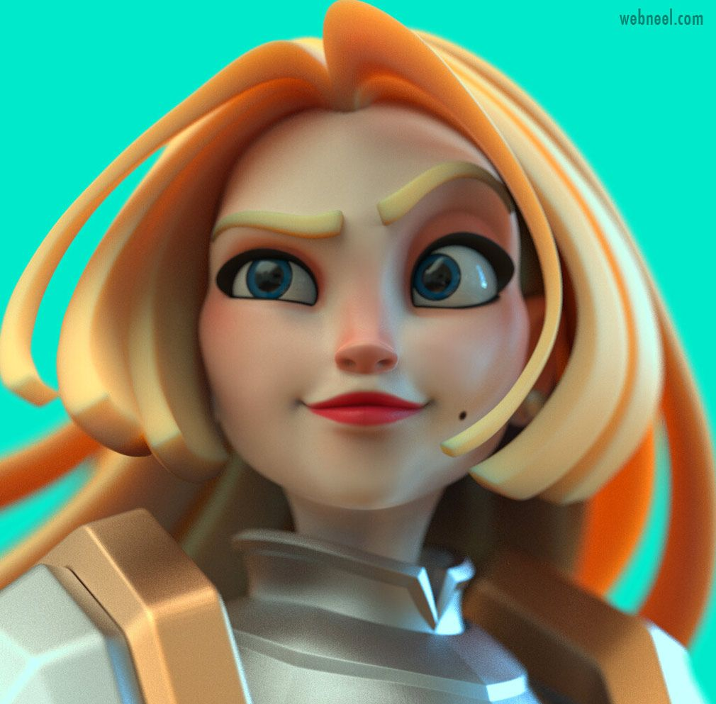 50 Funny and Beautiful 3D Cartoon Character Designs for