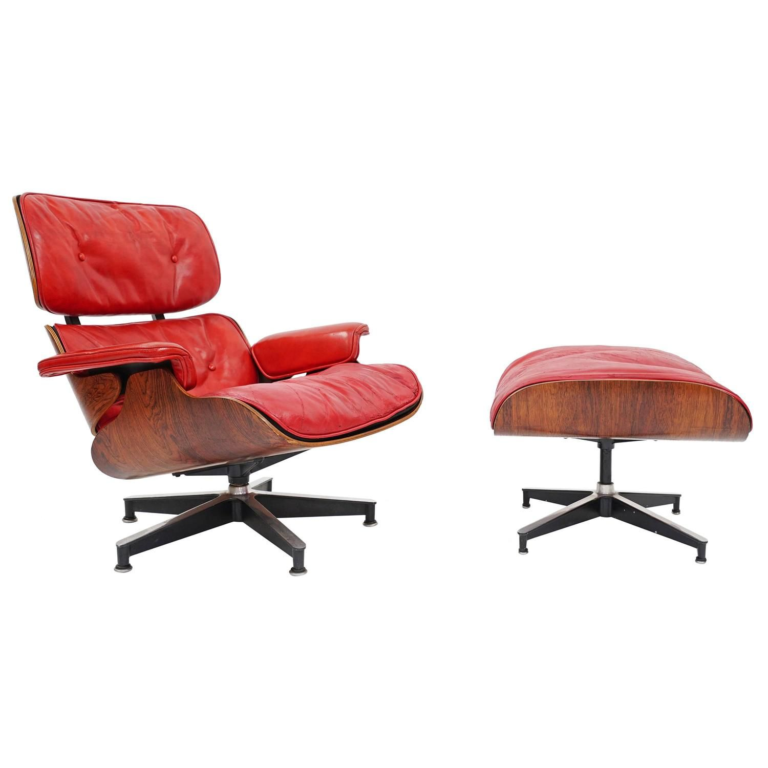 Rare Pepsi Red Eames Lounge Chair By Herman Miller For Pepsi Co 1stdibs Com Lounge Chair Eames Lounge Chair Vintage Lounge Chair