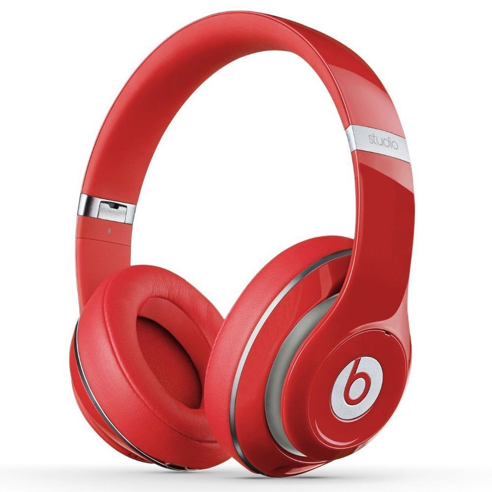 Beats By Dre Red Studio 2 Wired Headphones Refurbished