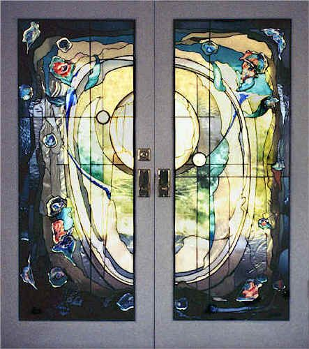 Exterior Stained Glass Door Centre Pointe Exterior Doors With Mouth