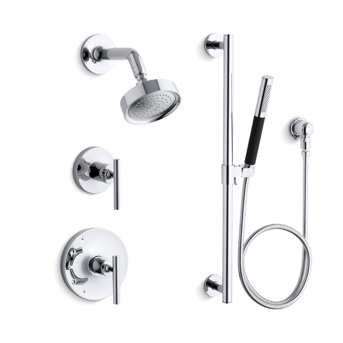 Kohler K Purist Shwr Bndl Hs Kohler Purist Shower Systems Tub