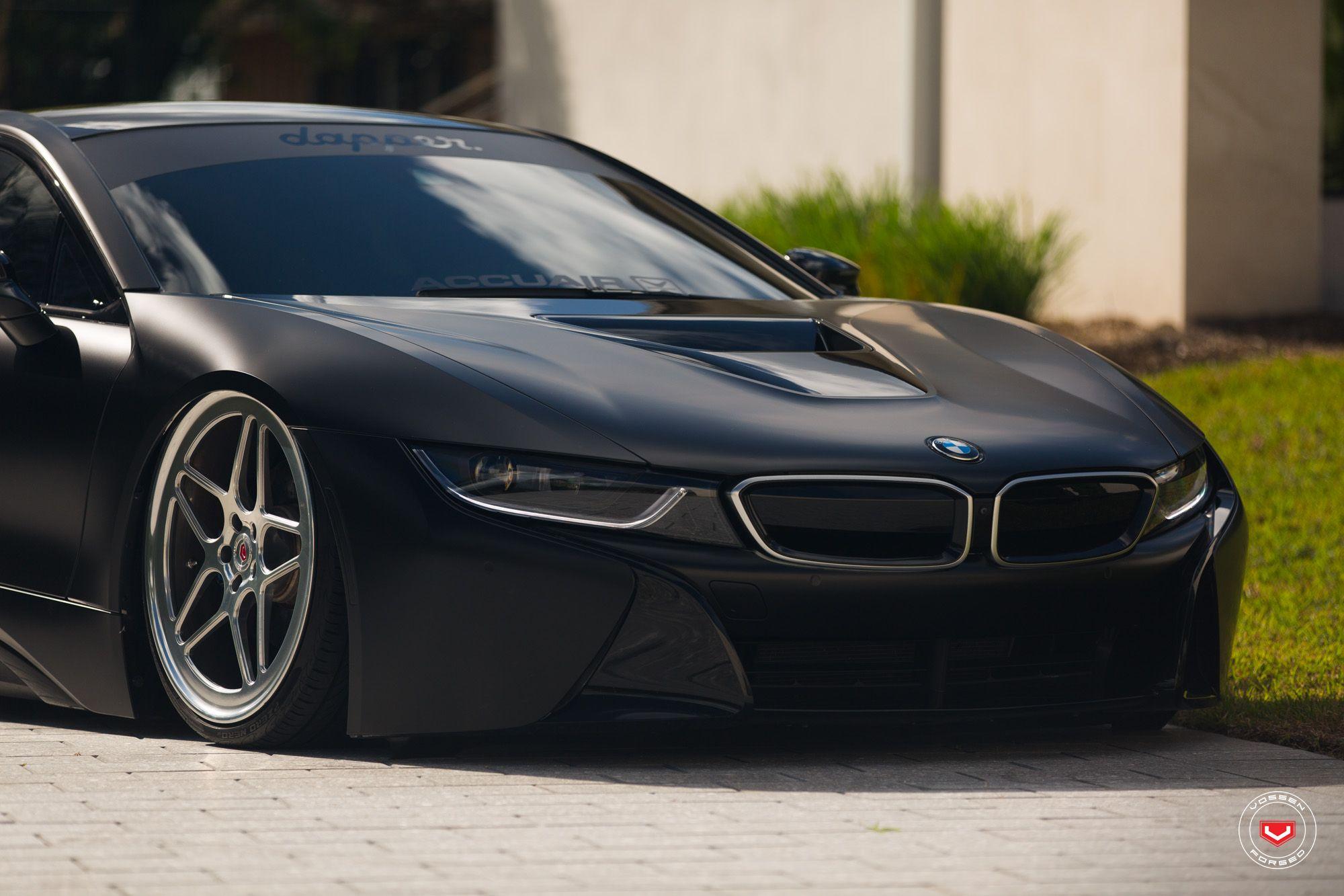 Bmw I8 Edrive Coupe Vossen Wheels Black Pearl Provocative