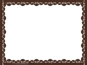 Clip art border brown certificate border with white ribbons certificate templates without borders blank certificates blank certificates yelopaper Gallery