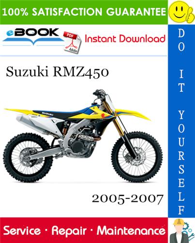 Suzuki Rmz450 Motorcycle Service Repair Manual 2005 2007 Download In 2020 Repair Manuals Repair Husqvarna