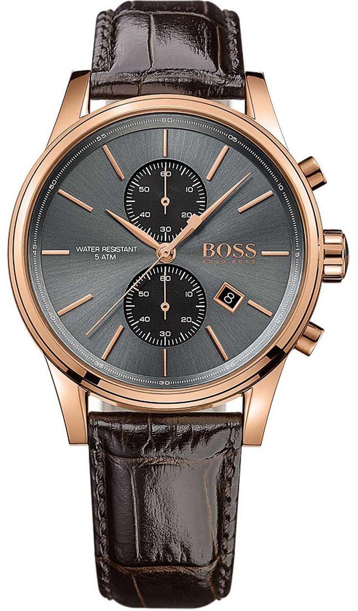 Hugo Boss Watch Mens Chronograph Mit Bildern Boss Uhren Herrenuhr Leder Armbanduhr