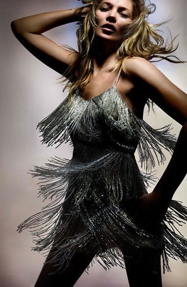 Kate Moss for Topshop Beaded Fringe Tiered Dress @Nordstrom