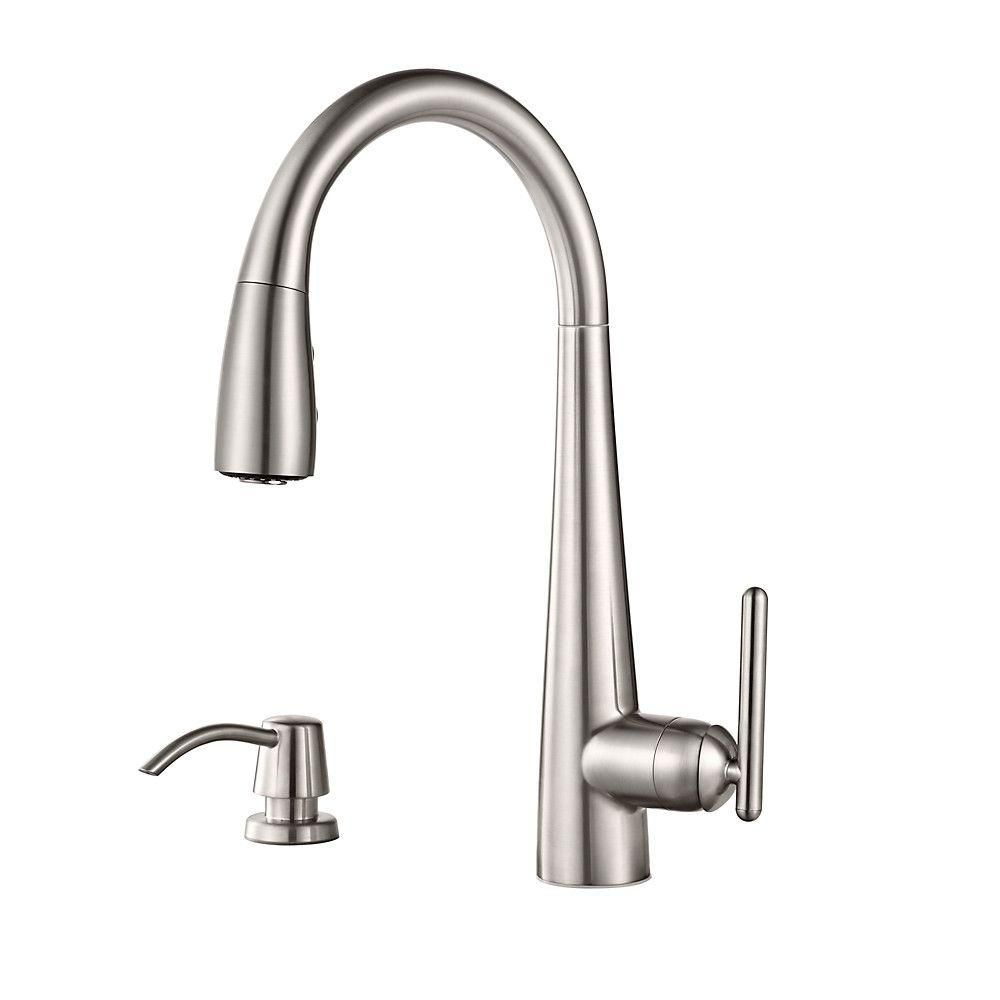 Pfister Lita Single Handle Pull Down Sprayer Kitchen Faucet With