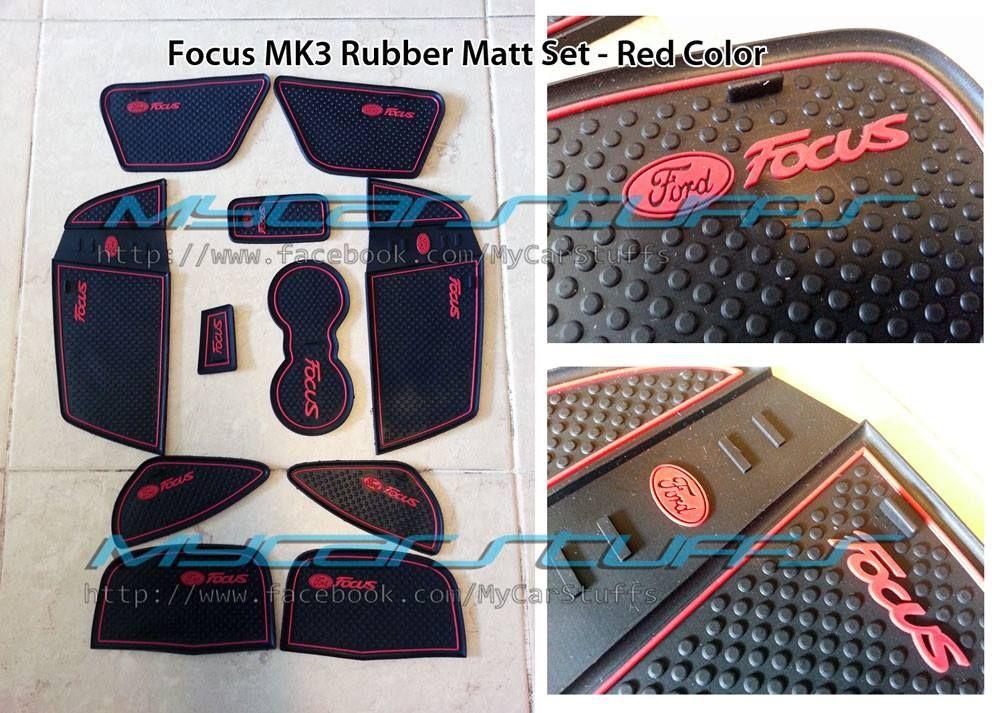 Focus mk3 interior rubber matts red ford focus accessories parts ford focus accessories for Ford focus interior accessories