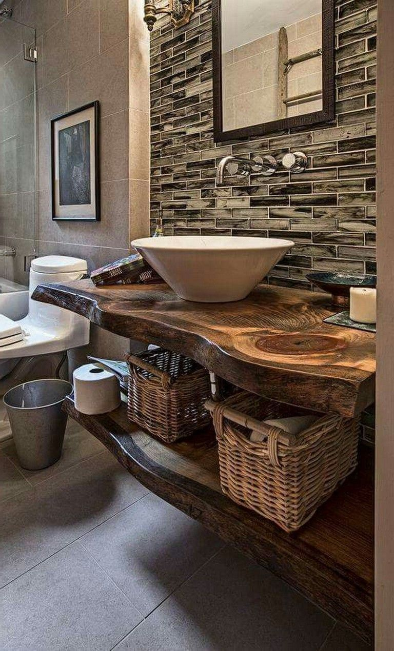 9 Charming And Natural Rustic Bathroom Design Ideas: 30+ Awesome Rustic Bathroom Design Ideas