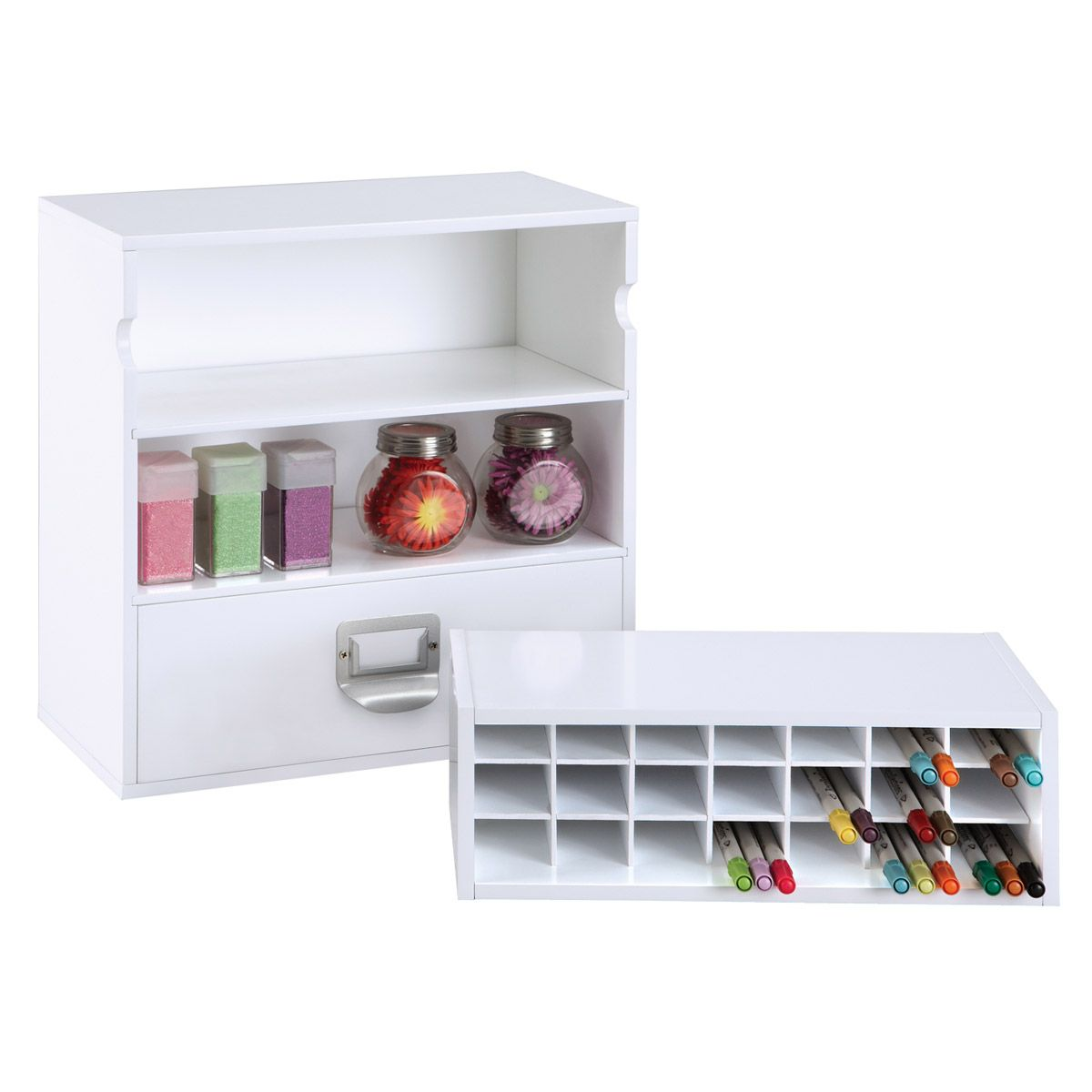 The Recollections Markers Storage Organizer Fits Nicely Into Our Storage Cube For Easy Access To Every Ma Marker Storage Craft Storage Craft Storage Solutions