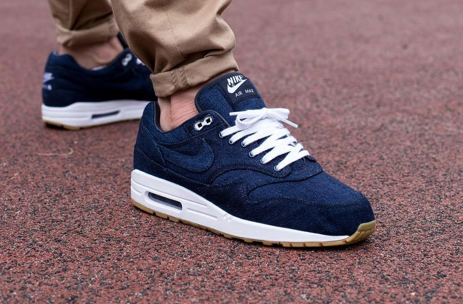 sneakers for cheap 85785 1198d Chaussure Nike Air Max 1 ID Denim Indigo Nowaki (4)
