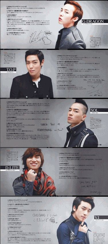 BIGBANG ♡ G-Dragon ,Daesung ,TOP ,Seungri , and Taeyang