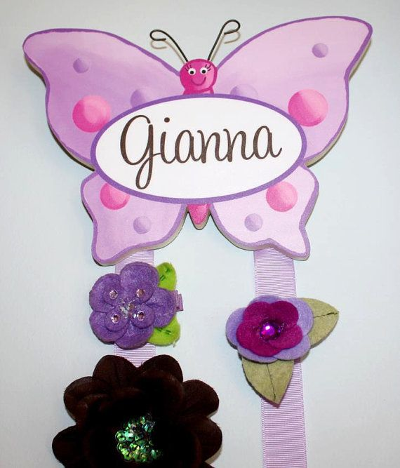 Hair Bow Holder Ribbon Bow Holder Sequin Bow Holder Clippie Keeper