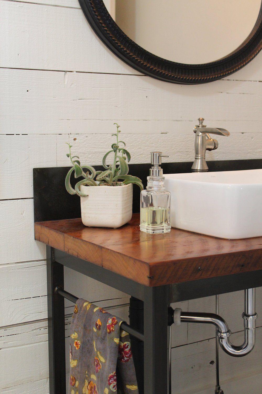 Modern Farmhouse Vanity + Backsplash Vanity backsplash