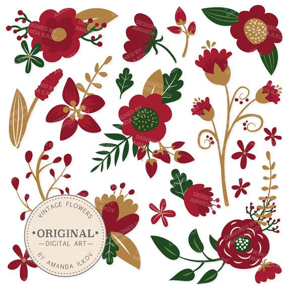 christmas flower clip art
