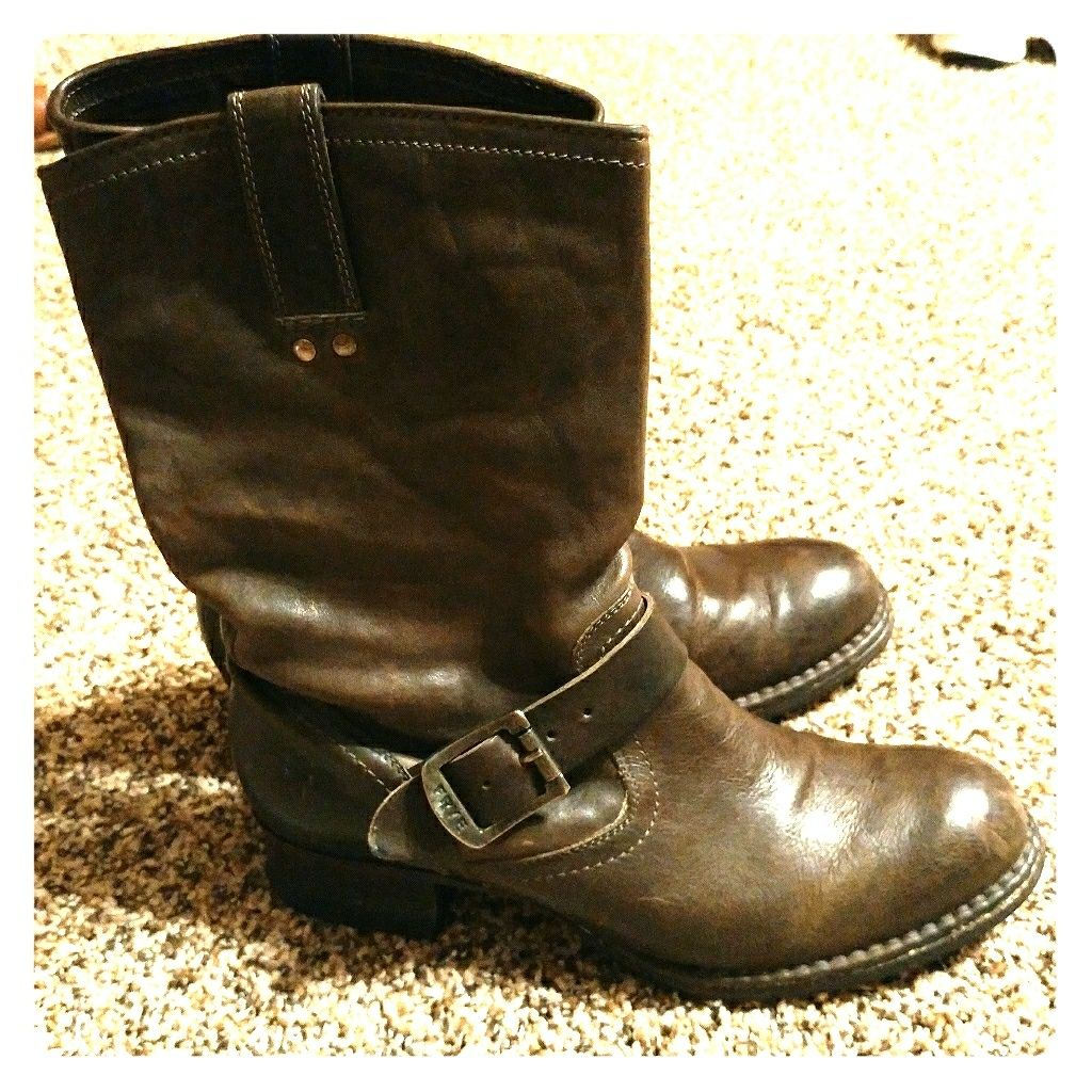 Frye Martina Engineer Boots!