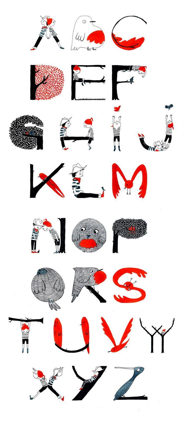 Alexandra Huard Coiffeur D Oiseau Design Alphabet Polices Typographiques Caligraphie