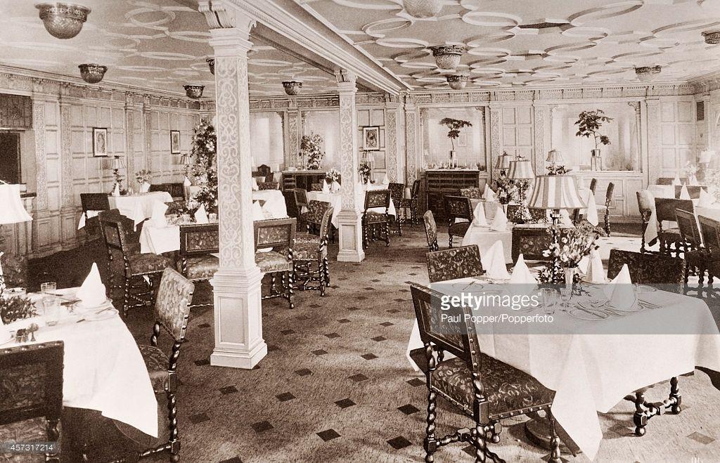 RMS Aquitania Grill Room | Ocean and Rms mauretania