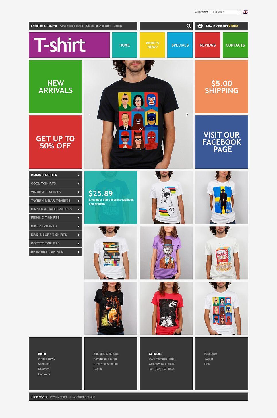 Image Result For Tshirt Website Template Tshirt Website Template - T shirt design website template
