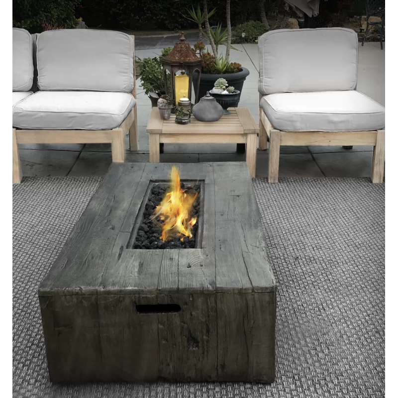 Mobley Concrete Stainless Steel Propane Gas Fire Pit Table In 2020 Outside Fire Pits Fire Pit Table Gas Fire Pit Table