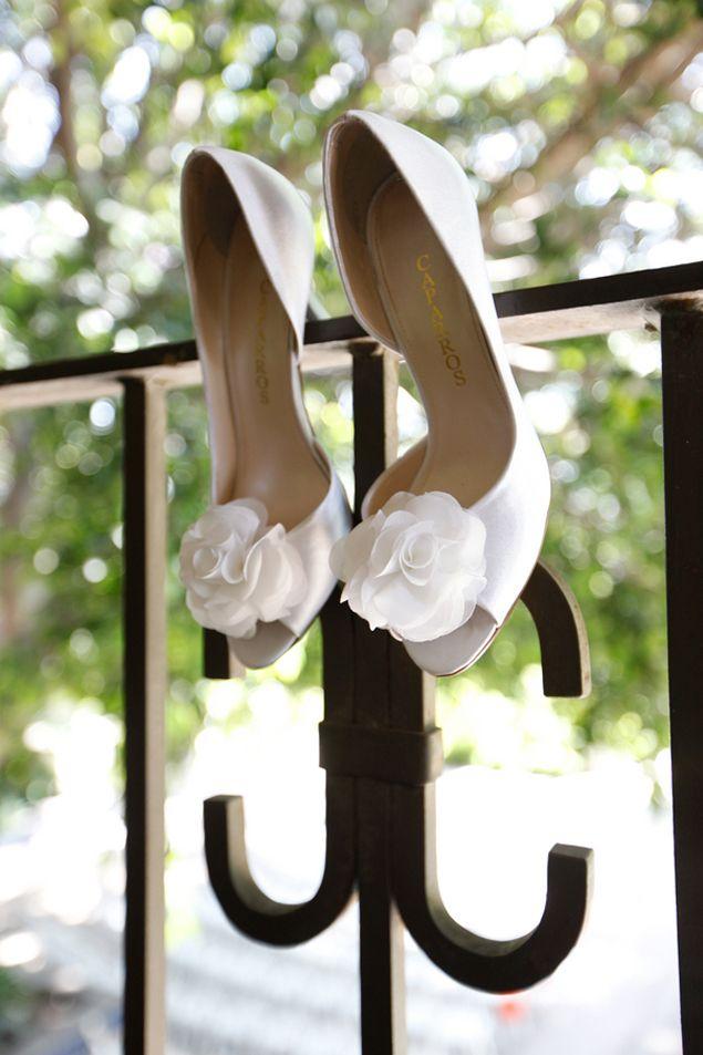 White Bridal Shoes - Photo Source • Karen Ard Photography