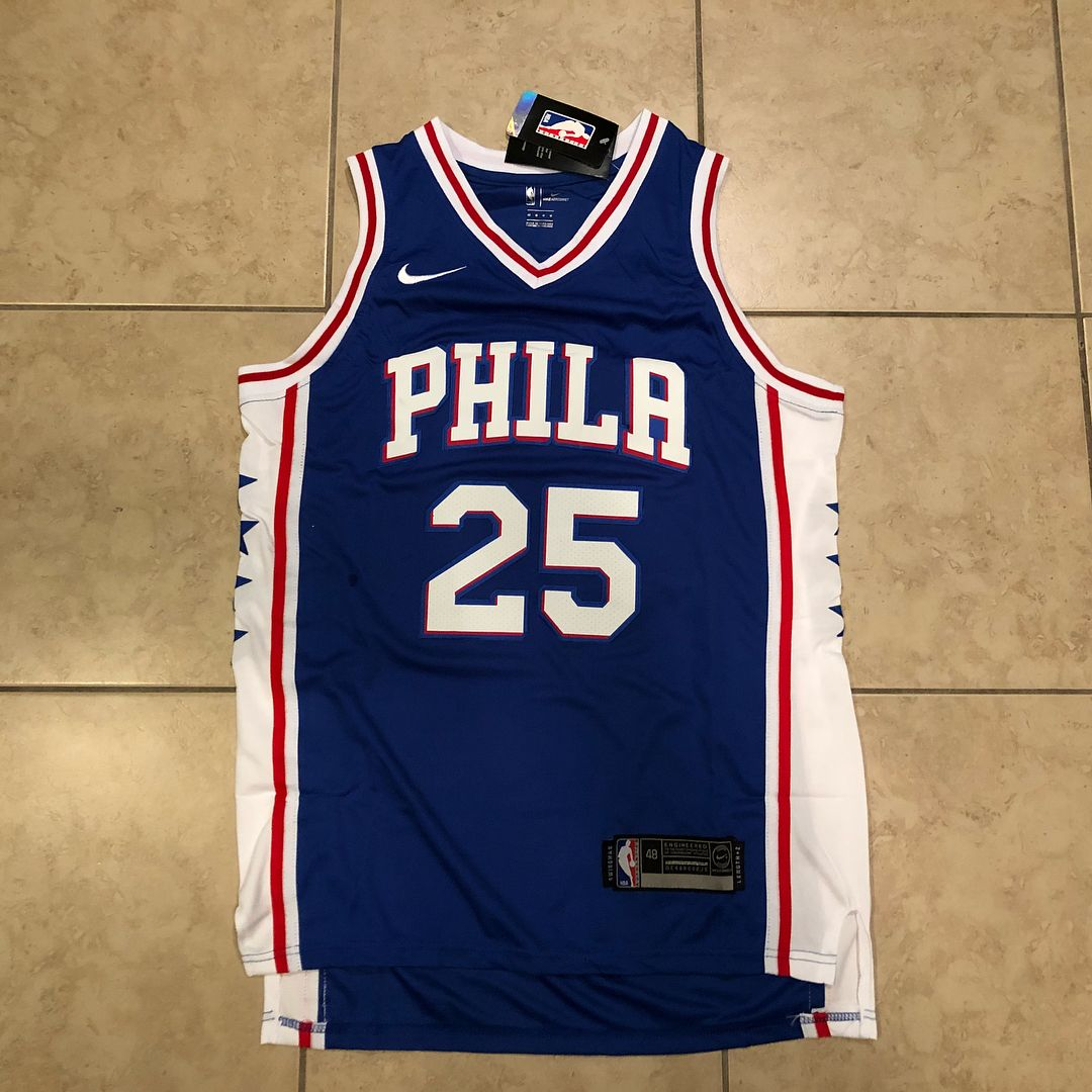 Philadelphia 76ers  25 Ben Simmons swingman Jersey. . . Sizes available  Medium-XL fe7595c06