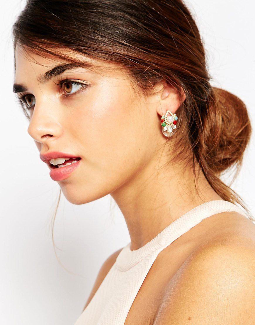 Image 2 ofASOS Colour Pop Occasion Swing Earrings