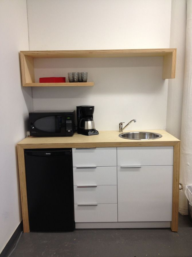 Pin by Adela Hill on Microwave in cabinet | Pinterest | Break room ...