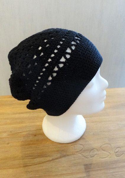 Häkelmützen - luftig gehäkelte Mütze mit tollem Muster, Beanie - ein Designerstück von ro-se bei DaWanda
