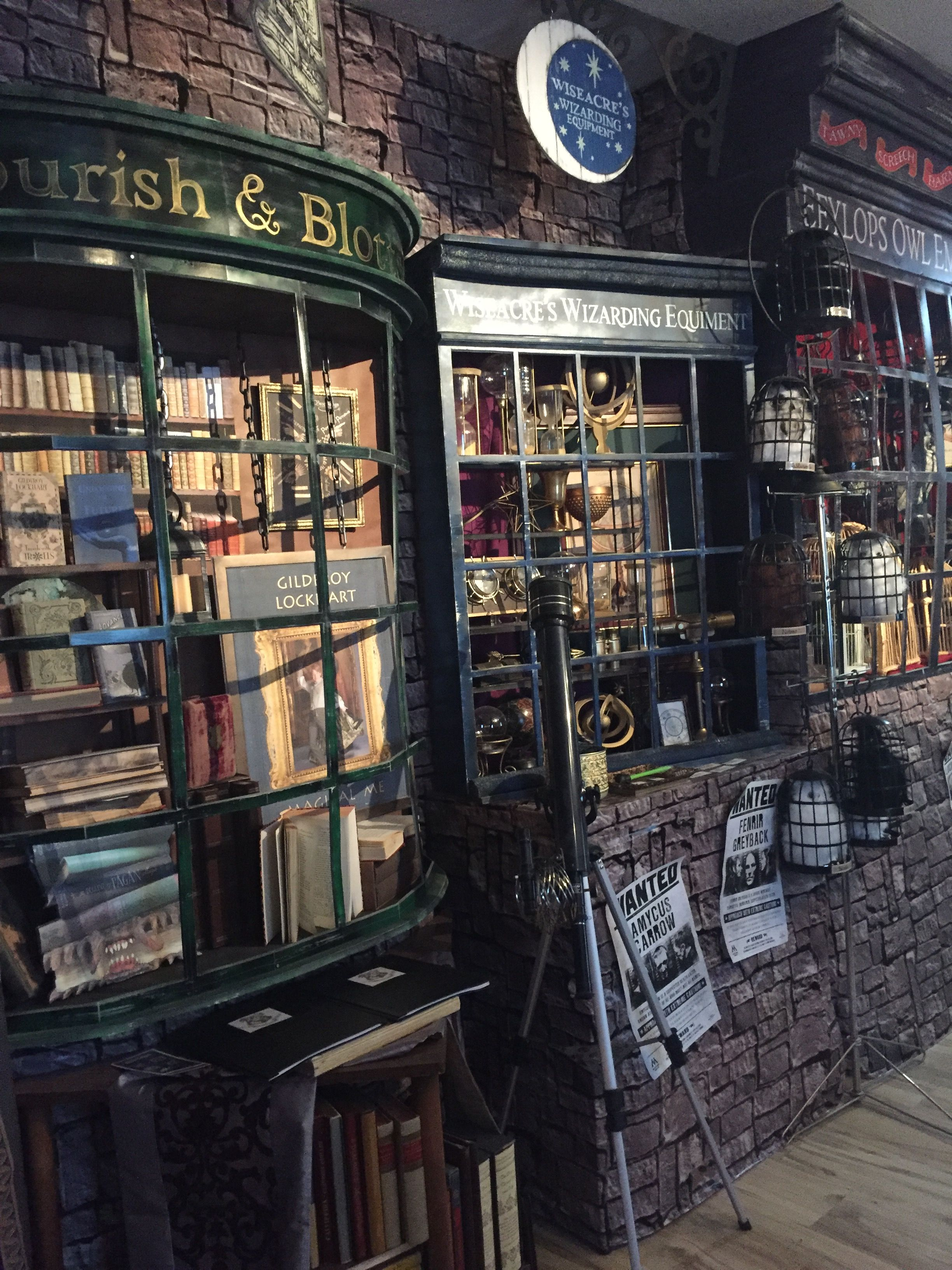 Harry Potter Diagon Alley Birthday Decor Magalie Sarnataro S Props Harry Potter Diagon Alley Harry Potter Shop Harry Potter Miniatures
