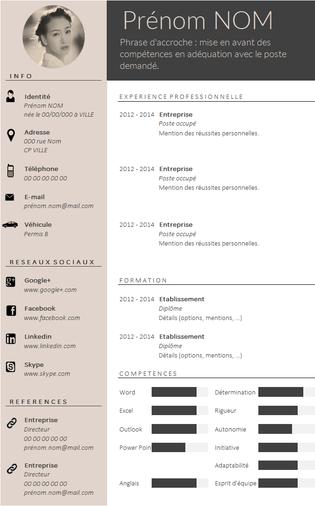 Envie D Un Cv Design Et Tendance Resume Design Cv Design Cv Template
