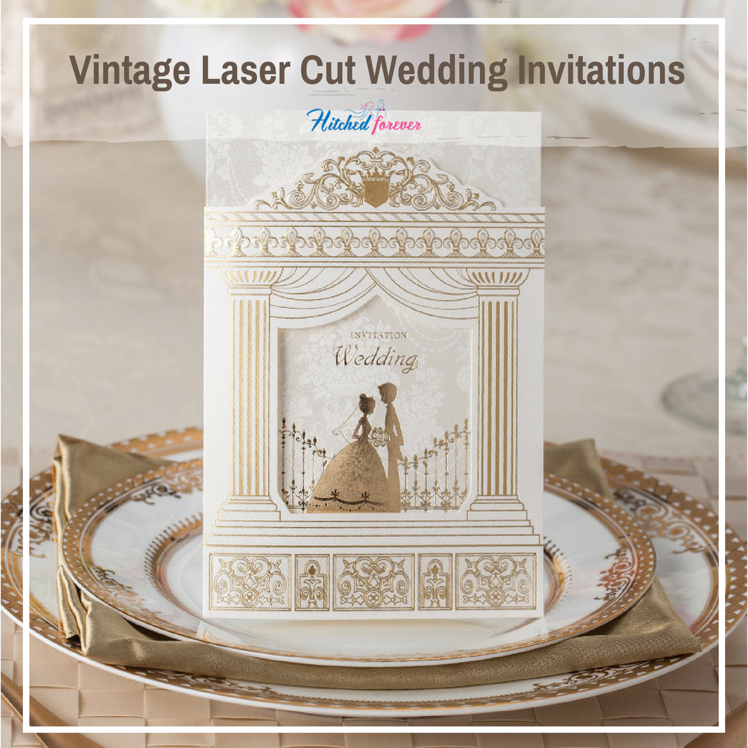 Vintage Laser Cut Wedding Invitations Laser Cut Intricate