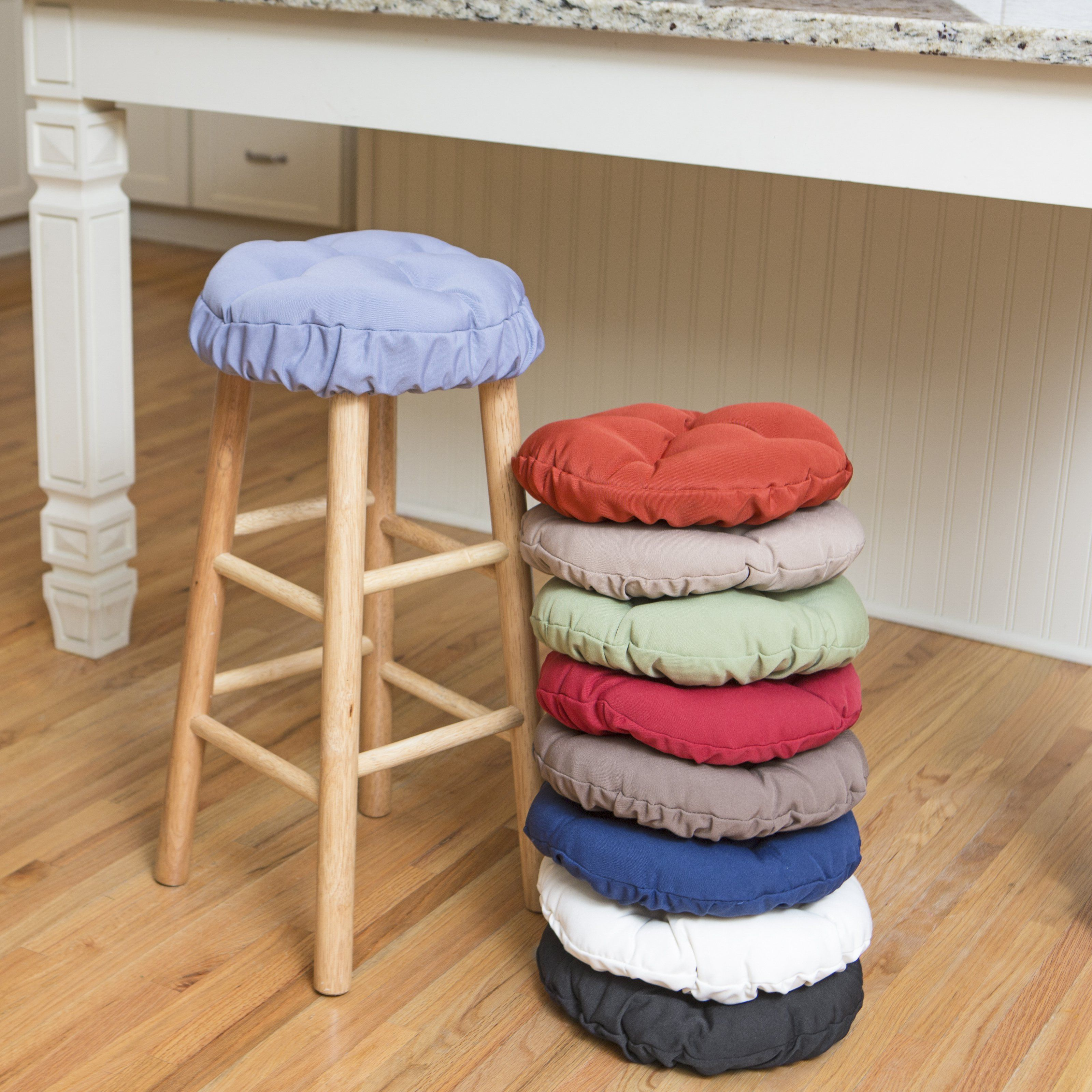 Deauville 13 In Round Backless Bar Stool Seat Cushion Bar Stool Cushions Bar Stools Round Bar Stools
