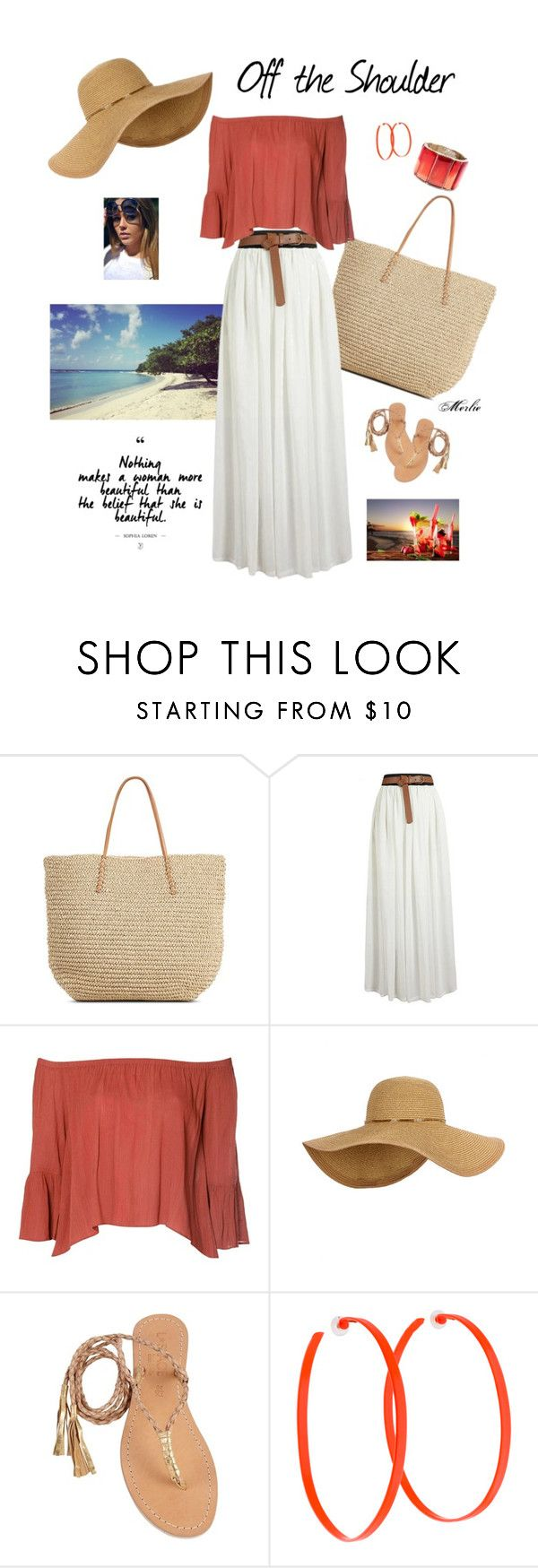 """""""Off the Shoulder"""" by mduncan0417 ❤ liked on Polyvore featuring Target, Glamorous, Cocobelle, Alexis Bittar and Oscar de la Renta"""