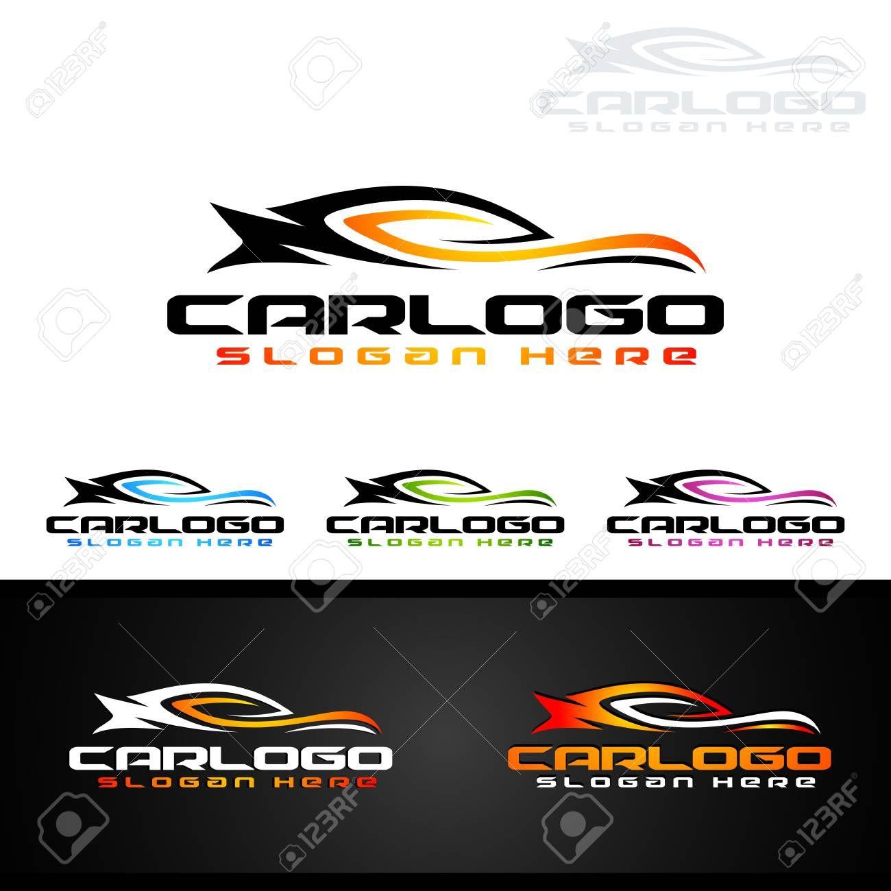 Auto Car Logo For Sport Cars Rent Wash Or Mechanic Illustration
