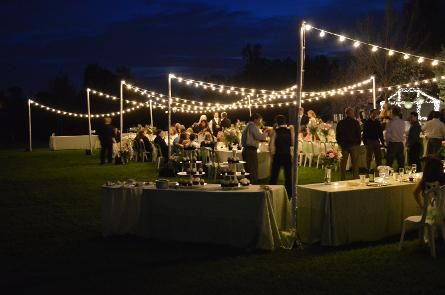 Lightupthewalls Led Market String Lights For A Backyard Wedding Reception